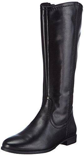 negro alto negro de botas 25596 mujer caño Tamaris cuero de 8w1vxqnTC