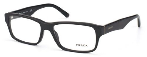 Prada Eyeglass Frames PR16MV 1BO1O1-53 - Matte Black - For Eyeglass Men Prada Frames