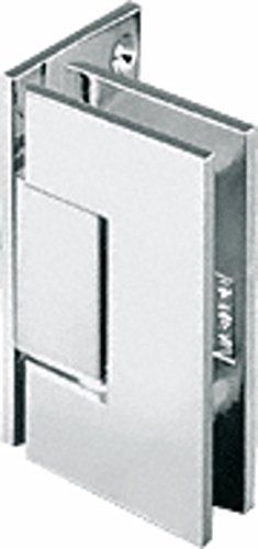 C.R. LAURENCE GEN044PN CRL Polished Nickel Geneva 044 Series Wall Mount Offset Back Plate Hinge