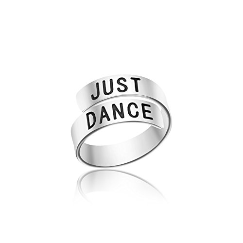 Yiyang Adjustable Ring Jewelry Personalized Rings Birthday Graduation Gifts for Girls (Just Dance)