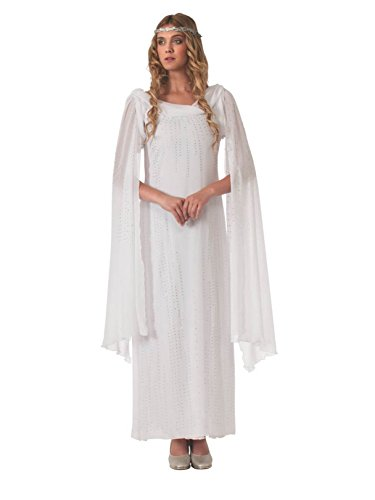 Rubie's The Hobbit Galadriel Dress With Headpiece, White, Adult One Size -