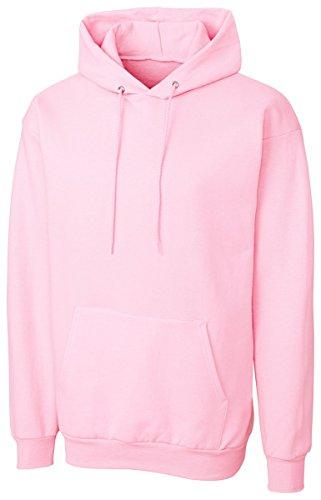 Cutter & Buck MRK02001 Mens Clique Basics Flc P/O Hoodie S-Xxl, Pale Pink-L Pink Hoodie
