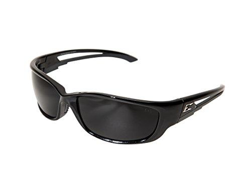 - Edge Eyewear SK-XL116 Kazbek XL Safety Glasses, Black with Smoke Lens