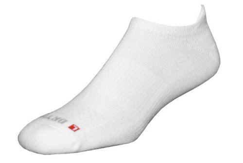 Drymax Golf No Show Tab Sock,White,Small