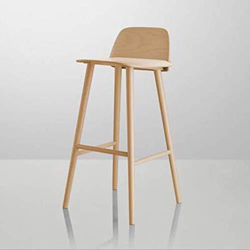 ch-AIR Nordic Danish Wrought Iron Nerd Bar Stool Wood Front Desk Designer Creative Net Red High Stool,4