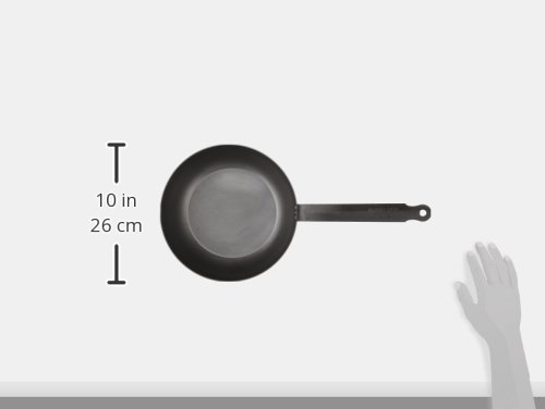 Mauviel Made In France M'Steel Black Steel Splayed Curved Saute Pan, 9.5''/24cm, Steel by Mauviel (Image #2)