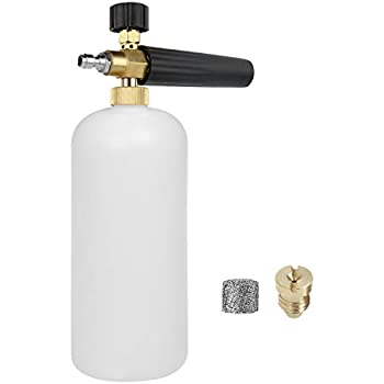 Sooprinse High Pressure Foam Cannon Orifice Nozzle Tips and Foam Maker Universal Accessories 1.1 mm Thread Nozzle and Mesh Filter for 3000 PSI Pressure Washer 2 Pack