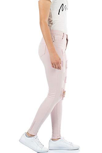 malucas malucas Femme Skinny Jeans Jeans Rose qa5ZcP6Twc