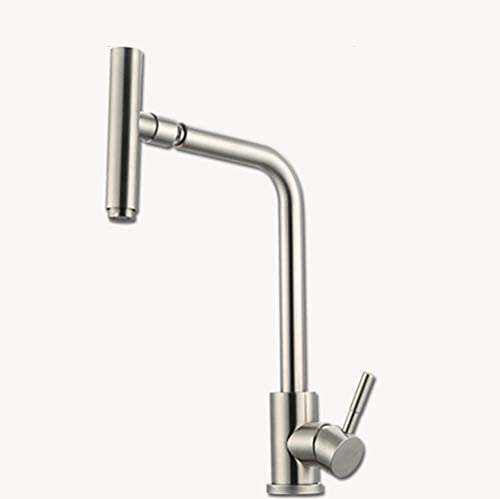 SEIDO Stainless Steel Single Handle Basin Bar Faucet SplashFree Single Level Flow Control Kitchen Sink Mixer Faucets in Brushed Nickel