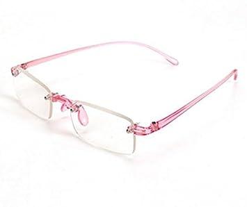 ca09a25a70 Pink Rimless Light Presbyopic Reading Glasses Fatigue Relieve Strength 1.0  1.5 2.0 2.5 3.0 by Shopidea