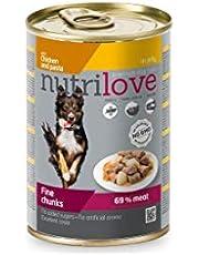 Nutrilove Tahılsız Tavuk Etli ve Makarnalı Köpek Konservesi 415 Gr