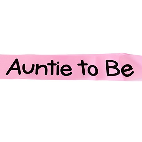 MagiDeal Auntie to be Writing Baby Shower Party Sash Pink by MagiDeal (Image #2)