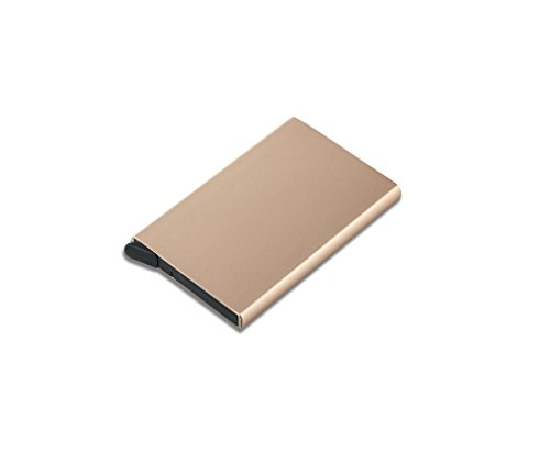 up Card Card Pink Women And Gold Pink Gold Cards Protector Blocking Vanlemn Credit Metal Automatic Logo Pop Credit Holder with Thin Aluminum Mens Metal Credit Wallet Case RFID Travel for q8tgfv