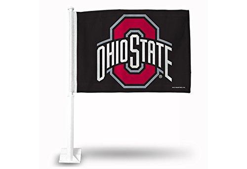 Rico Industries NCAA Ohio State Buckeyes Car Flag, 19-Inch, Black