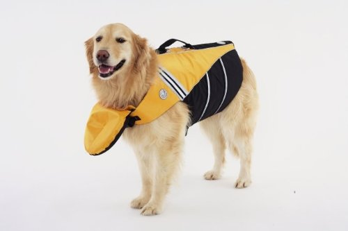 Doggles Dog Flotation Jacket, Medium, Yellow, My Pet Supplies