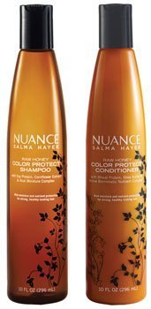 Price comparison product image Nuance Salma Hayek Raw Honey Color Protect Shampoo Plus Raw Honey Color Protect Conditioner 10 Oz Each [Bundle of 2 Items]