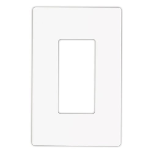 EATON Wiring 9521WS-P ASPIRE Thermoplastic 1-Gang Screwless Mid-Size Wall Plate, White Satin ()