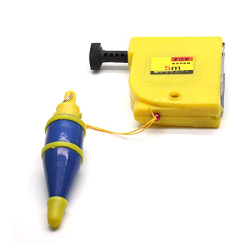 Autoly CF-5000 Magnetic 400g Plumb Bob Straight Level Setter Test Device 5 Meters Blue ()