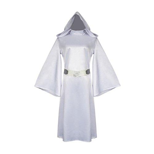 Womens Leia Organa Princess Sexy Dresses Jumpsuits Halloween Cosplay Costumes -