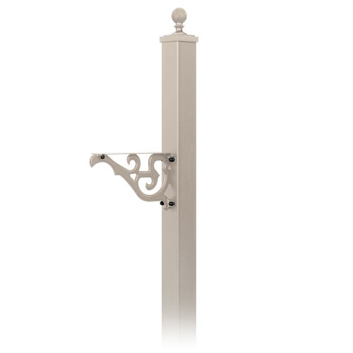 Salsbury Industries 4845BGE Decorative Mailbox Post Victorian, In-Ground Mounted, Beige