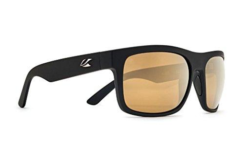 Kaenon Burnet XL Sunglasses - Select Frame and Lens (Black Matte Grip, Brown 12 - Polarized Gold - Sunglasses Burnet Kaenon Polarized