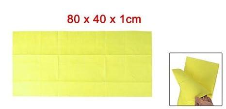 Amazon.com: eDealMax No Tejido auto del coche Amarillo de la Tela del limpiador de la limpieza 40cm x 80cm: Automotive
