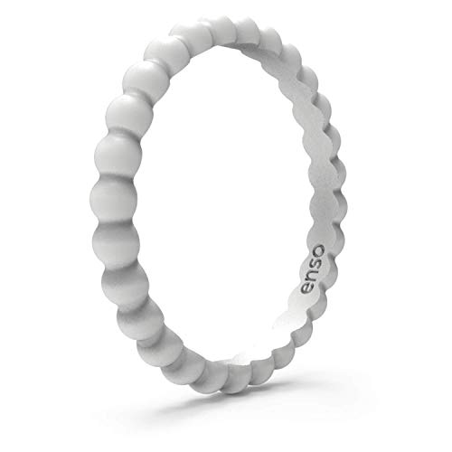 - Enso Rings Beaded Silicone Ring | Premium Fashion Forward Silicone Ring | Hypoallergenic Medical Grade Silicone | Lifetime Quality Guarantee | Commit to What You Love (Misty Grey, 7)