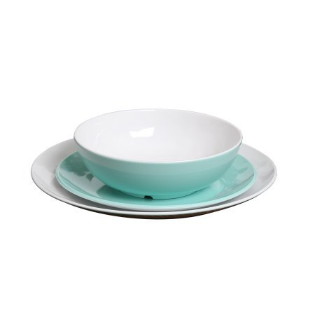 Cheap Dinnerware Made From Melamine Material 12-Pack Teal
