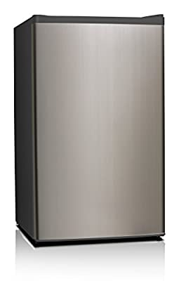 Midea WHS-121LSS1 Compact Single Reversible Door Refrigerator, 3.3 Cubic Feet, Stainless Steel
