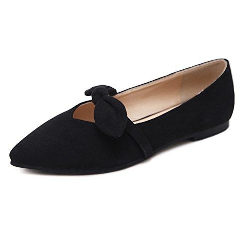 Meeshine Women's Velvet Mary Jane Shoes Comfy Ballet Flats Shoes For Dance Yoga Exercise (9 B(M) US, Black (Velvet Ballerina Women Flat Shoes)