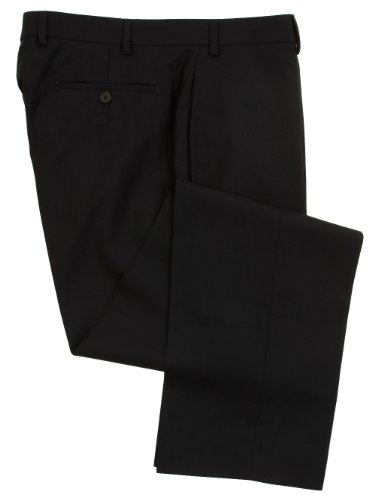Ralph Lauren Wool Dress Pants For Men Classic Flat Front Style Trousers 42Wx30L Navy (Suit Pants Navy Wool)