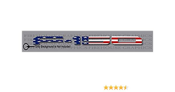 Firehouse Graphics American Flag Vinyl Decal Letter Inlays Inserts 2018 2019 F-150 Tailgate Nonreflective