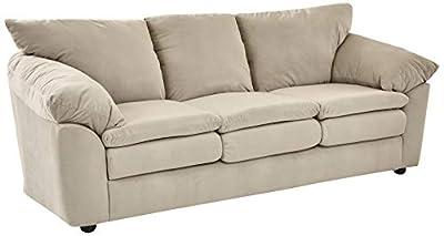 Ravenna Home Darian Oversized Pillow Faux Leather Sofa