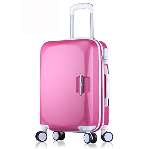 LIYONG Checked Baggage Box Hard Shell Travel Trolley Suitcase Set Student Suitcase (Color : Rose red, Size : 26'')
