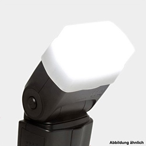 Delamax Profi Diffusor für Nikon Speedlight SB-600 und Olympus FL-36, 36R Flash Bounce Softbox