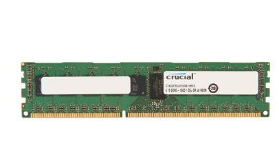 CRUCIAL 8 GB (1 x 8 GB) - DDR3 SDRAM - 1600 MHz DDR3-1600/PC3-12800 - ECC - Registered - 240-pin - DIMM / CT8G3ERSLD8160B /