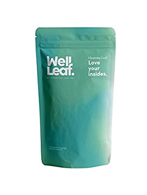 Wellleaf |14 days herbal detox tea with tea bag squeezer love your insides
