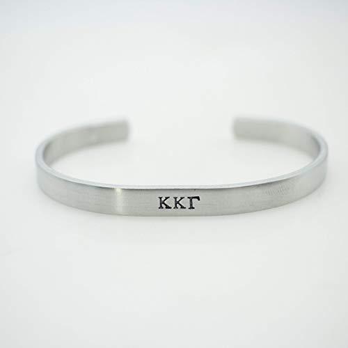- Kappa Kappa Gamma Sorority Bracelet Silver Greek Life Bid Night Gift Big Little Beta Gamma Alpha Delta Sigma