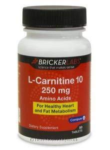BRICKER LABS L-CARNITINE L-TARTRATE,B6, 50 TAB