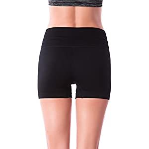 Homma Women's Seamless Compression Ombre Yoga Shorts Running Shorts Slim Fit … (X-Large, Black)