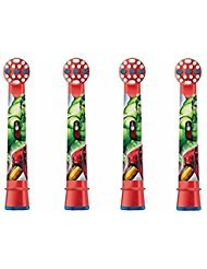Genuine Oral-B Braun Stages Power Kids Avengers Electric Toothbrush Replacement Brush Heads (4 x Toothbrush Heads)