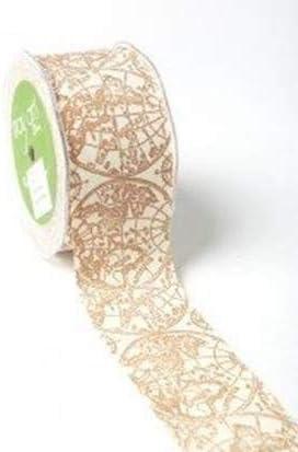 Cinta de mapa vintage marrón – 1 rollo de 5 cm de ancho x 18 m 100% cinta de algodón: Amazon.es: Oficina y papelería