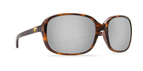 (Costa Del Mar RVT10OSCP Riverton Sunglass, Shiny Tortoise Frame Silver Mirror)