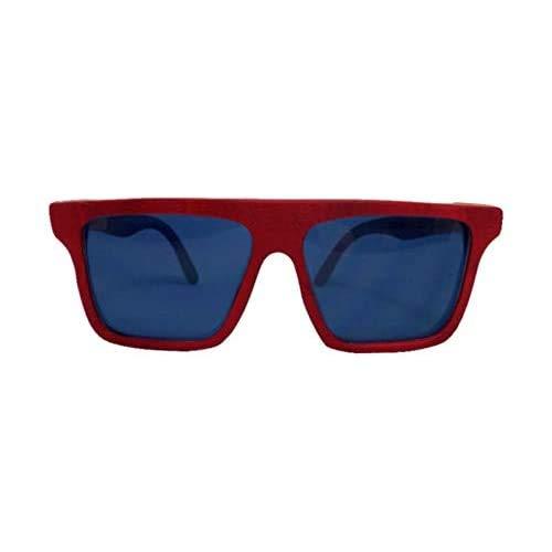 Óculos de sol de madeira Leaf Eco Sanchez Vermelho/Imbuia