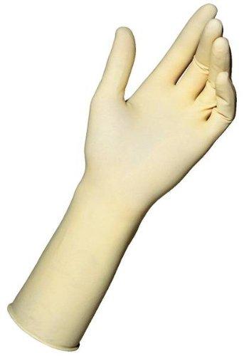 MAPA Sensitron 0760 Natural Latex Glove, Work, 0.008'' Thickness, 12'' Length, Size 9, Non Pigmented (Bag of 50 Bulk)