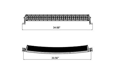 "6KLED LED-BC180S-X 32""Curved LED Light Bar 180w Spot Beam Double Row Bar"