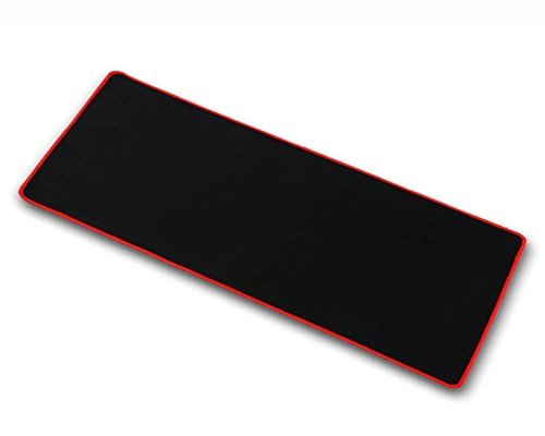 """OPCC high grade thick official big mouse pad game mouse pad Extended Edition Cloth Gaming Mouse Mat 23.6""""*11.8""""*0.12"""" functional Non-slip Rubber base (red)"""