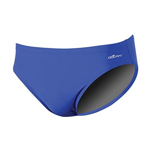 (Dolfin Swimwear Men's Solid Racer - Royal, 26)