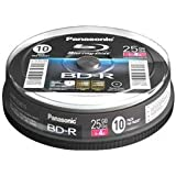 Panasonic LM-BRS2MWE10 25GB Write-Once Blu-Ray Disc 10 Pod Spindle