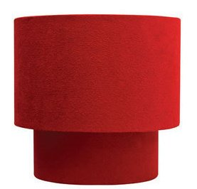 Suede effect two tier lamp shade for pendant ceiling lights red suede effect two tier lamp shade for pendant ceiling lights red colour mozeypictures Image collections